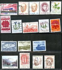 LOT 67344  USED   617 / 641  NORWAY  STAMPS