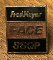 Vintage Fred Meyer Stores PACE SSQP Employee Lapel Hat Pin Pinback ~ Associate