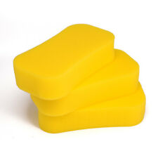 3pcs Value Yellow Jumbo Car Sponge Cleaning Washing Dirt Wash Van Home Vehicle