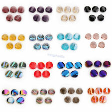 14mm10 Faceted Glass Crystal Spacer Loose Spacer Bead Jewelry Making Finding #Q