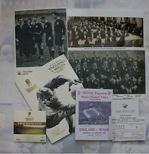 ENGLAND v WALES 1933 RUGBY MEMORABILIA COLLECTION, FIRST WELSH WIN at TWICKENHAM