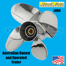 SUZUKI 70- 140HP 4 Strokes STAINLESS 4 Blade Power Tech LNR4 PROPELLER PROP