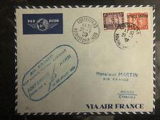 1938 Hanoi Vietnam First Flight Cover to Ft Bayard via Air France FFC 150 Flown
