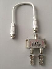2-fach SAT Verteiler Splitter 2fach Weiche Satverteiler mit 2x 6,5mm F-Steckern