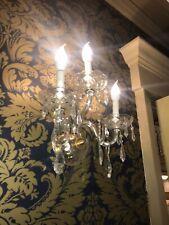 pr- Vintage crystal glass wall Sconces hollywood regency