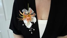 Ladies Apricot & Cream Buttonhole
