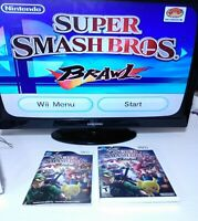 Super Smash Bros. Brawl Near Mint Nintendo Wii 2008 Complete / Manual  Tested 👍
