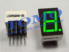 Display 7 segmenti singolo anodo comune VERDE 14,2mm code LSD056BAG-101-02