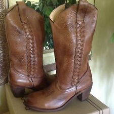 Bed Stu Women's Tan Leather Western Cowgirl Boot 7.5M  MSRP $260