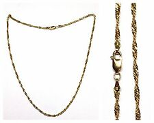 Singapore Serpentine Necklace 333 Gold Necklace Gold Necklace Gold Chain 44 cm