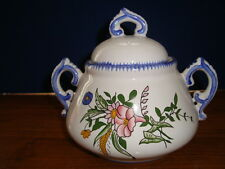 French hand painted earthenware tureen signed by artist Roullet Renoleau