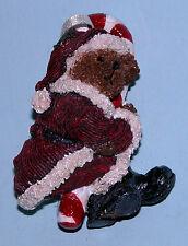 "Boyds Bears ornament ""Kris Kringlecane"" #25766 Christmas NIB,2002 Santa bear"