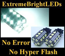 TWO HID WHITE No Resistor Required 3157 3057 20-SMD LED Front turn Signal Lights