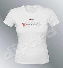 T-shirt customised MT07 Sml XL woman moto MT-07