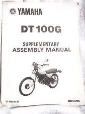 Yamaha Supplement Assembly 1979 Manual DT100G DT100