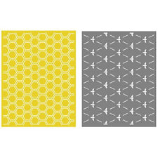 "Quickutz/Lifestyle Crafts EF-0019  ""Honeycomb""  2 Embossing Folders  NEW"