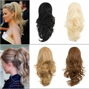 KOKO Reversible Clip In Drawstring Ponytail Extension Wavy Or Curly Hair Piece