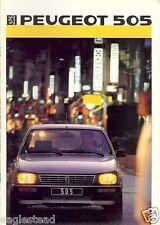 Auto Brochure - Peugeot - 505  - 1986 - Francais French language (AB449)