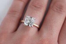 1.60 Ct Asscher Cut Solitaire Diamond Engagement Ring H,VVS1 EGL USA Certified