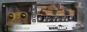 MILITARY WAR REMOTE CONTROL 1:32 RC BATTLE TANK NEW IN BOX RRP £24.99 AGE 6+