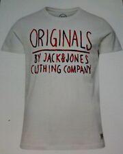 JACK And Jones Cloud Dancer T. Stampa Flock Bianco Camicia Taglia M Nuovo con etichette