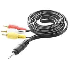 4.9ft 3.5mm Spina a 3 adattatore maschio RCA cavo di estensione AV per TV V E5B6
