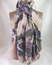 """Dansk Smykkekunst - 6C412 Pink Floral Washed Print Soft Viscose Scarf 72"""" x 37"""""""