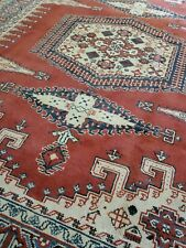 8 x 10 FINE VEG DYE INDO CAUCASIAN VINTAGE SERAPI KAZAK HERIZ TURKISH OUSHAK