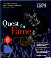 Quest for Fame PC CD become a virtual guitar-hero music riff rhythm concert game