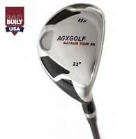 AGXGOLF LADIES LEFT & RIGHT HAND #4 HYBRID wLADY STAINLESS STEEL SHAFT+HEADCOVER