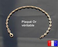 Bracelet Grain De Café En Véritable Plaqué Or Pour Femme bijou de qualité neuf
