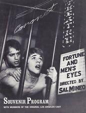 "Sal Mineo ""FORTUNE and MEN'S EYES"" Don Johnson 1969 Los Angeles Souvenir Program"