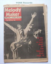 MELODY MAKER - January 7 1978 - TOM ROBINSON BAND / EDDIE & THE HOT RODS
