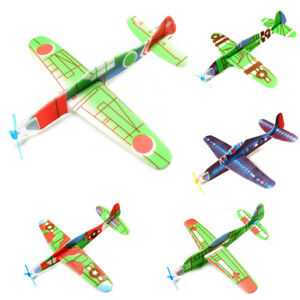 EY_ HX- 5Pcs DIY Hand Throw Flying Glider Foam Aeroplane Planes Model Children T