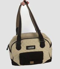 Vera Bradley Tan, Beige, Khaki Quilted Large Shoulder Purse Bag - Brown Suede