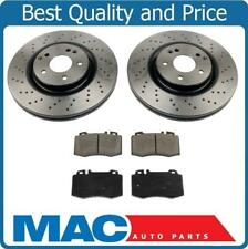 03-04 Mercedes C230 Sport Package 330MM 4 Piston Caliiper Frt Brake Rotors Pads