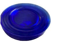 "Vintage Hazel Atlas Moderntone Cobalt Blue 9"" Dinner Plates Lot Of 7"