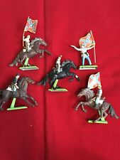 Vintage 1971 Lot Of 5 Britains Deetail Confederate Civil War Cavalry. Horse