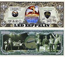 Led Zepplin Rock Band Million Dollar Novelty Money