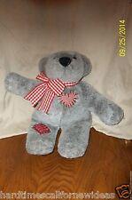 "Hallmark Gray Bear Valentine's Day Heart Teddy Plush 14"" 1991"
