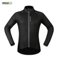 Men Cycling Jacket Long Sleeve Outdoor Activity Thermal Fleece Jersey Winter Fit