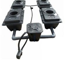 RUSH 4x40L Pot Deep Water Culture DWC Oxy Pot Bubbler Hydroponics System IWS/WOW