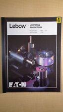 Lebow Eaton 1104-500 Slip Ring Torque Sensor Operating and Service Manual 8E B1