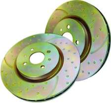 NEW GENUINE EBC TURBO GROOVE DRILLED VW SEAT AUDI FRONT BRAKE DISCS PAIR GD478