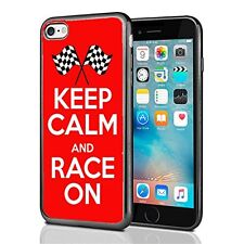 Keep calm and Race On For Iphone 7 (2016) & Iphone 8 (2017) Case Cover