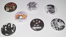 7 Queen button badges Freedie Mercury Night at the Opera Bicycle Killer Live Aid