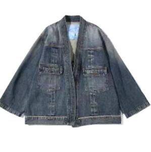 Japanese high fashion Kapital style denim noragi kimono cardigan (JK18)