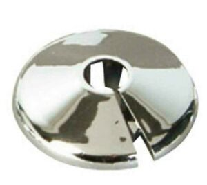 RADIATOR PIPE RINGS (10 of) ROSE COLLARS - 10mm LAMINATE COVER TIDY CHROME CP