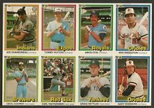 1981 Donruss Near Mint Uncut Error Card Sheet SCARCE JOE CHARBONEAU ERROR