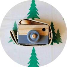 Kids Cute Wood Camera Toy Children Room Decor Natural Safe Wooden Camera Gray PK